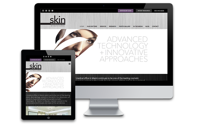 dermatology web design Miami
