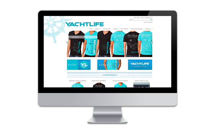 yachtlife e-commerce store