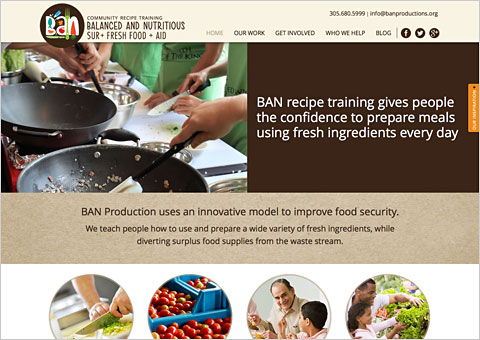 banproductions responsive parallax website