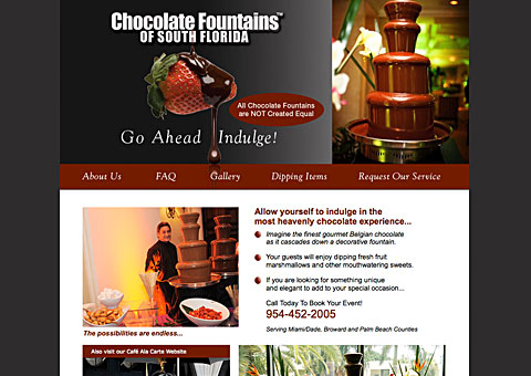 chocolate fountaints