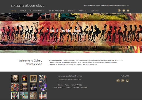 gallery elven eleven website