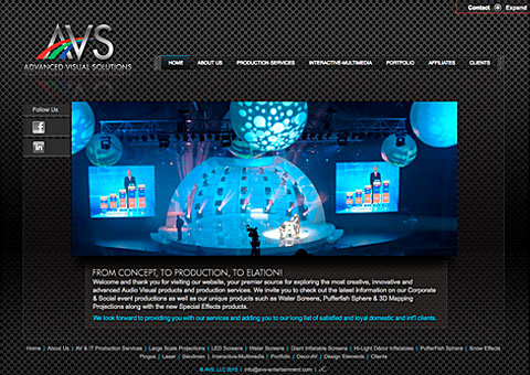 audio visual events html website