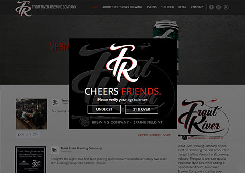 Trout River Brewing WordPress responsive Website